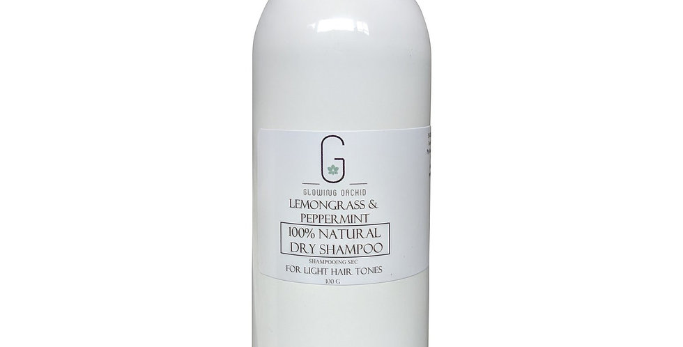 Glowing Orchid Organics Natural Dry Shampoo for brunette hair