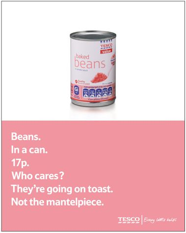 Tesco beans advert