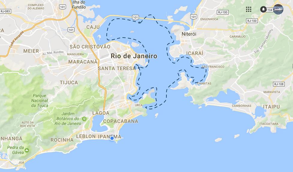 Roteiro para festa a bordo no RJ. Trajeto para festa no barco no RJ. Marina da Glória e Baía de Guanabara