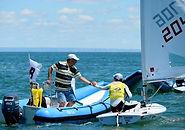 tecnicos e instrutores de regatas. barcos para apoio a regatas