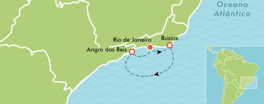 Roteiros de Viagens de barco do RJ a Buzios e Angra dos Reis