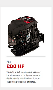 Motores de popa Mercury 175hp até 400HP gasolina