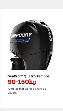Motores de popa Mercury 65hp até 150HP gsolina