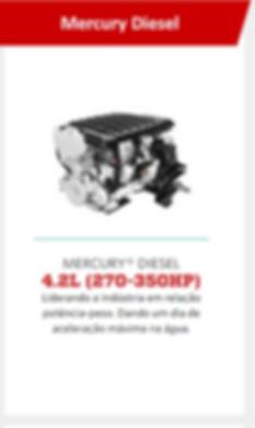 Motores de centro Mercury Diesel