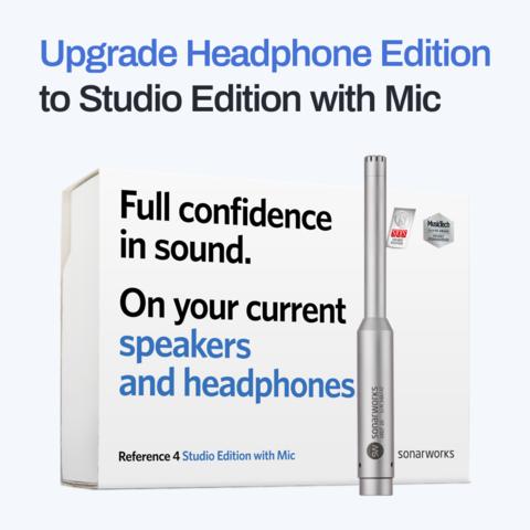 Upgrade Headphone to Studio Com Microphone