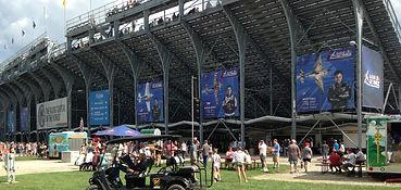 grandstand banner mesh