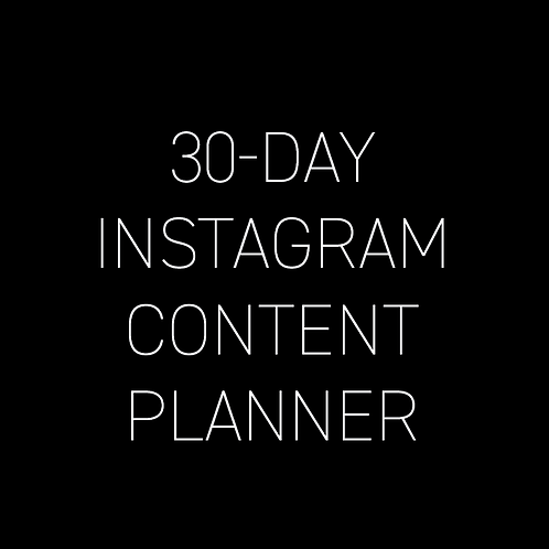 30 Day Instagram Planner