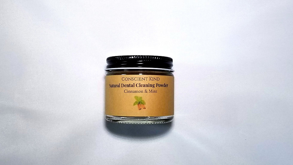 Natural Dental Cleaning Powder: Cinnamon & Peppermint