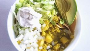 Squash & Tofu Vegan Chilaquiles Bowl
