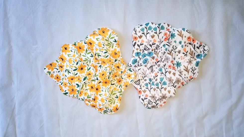 Reusable Bamboo Fiber Menstrual / Incontinence / Postpartum Pad Set