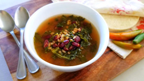 Kale, Farro & Kidney Bean Soup