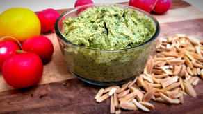 Vegan Pesto With Radish Leaves & Toasted Almonds