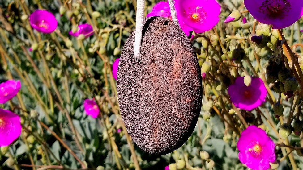 2 - Natural Black Volcanic Lava Rock Pumice Stone