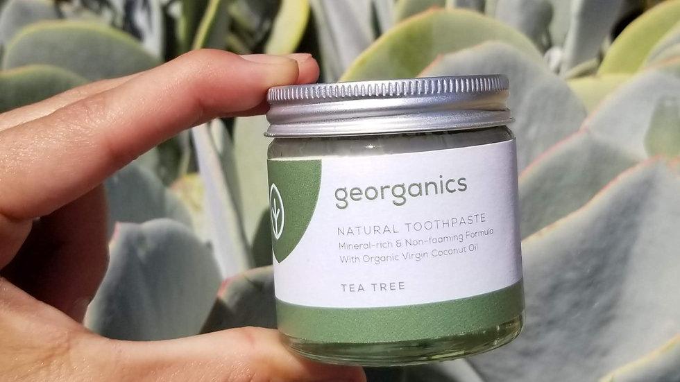 Georganics Natural Zero Waste Organic Toothpaste Tea Tree