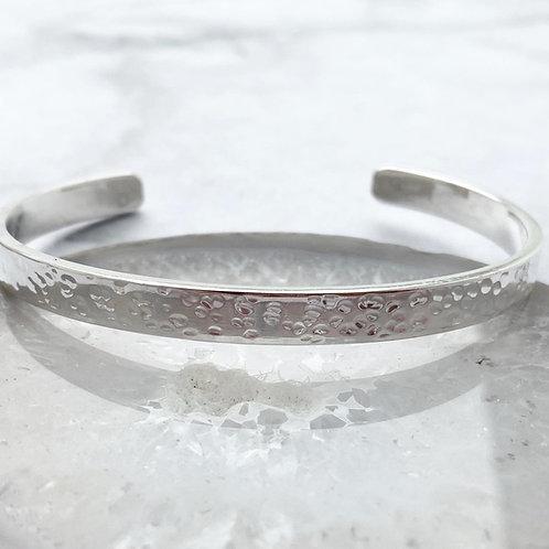 Simple Hammered Cuff bracelet