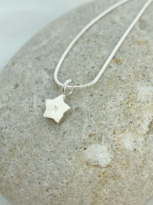 Little Star necklace with optional monogram