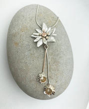 Bespoke pendant with Eidelweiss and daffodils
