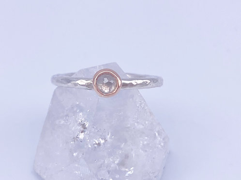 April birthstone stacking ring-luxury option - diamond
