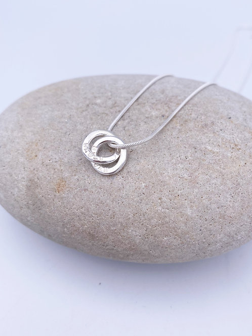 linked name ring necklace