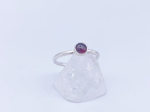 January birthstone Stacking ring -Garnet