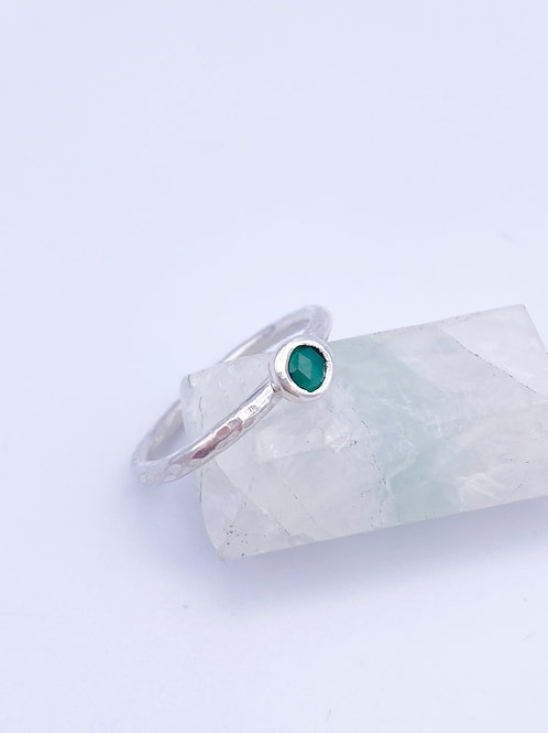 May birthstone stacking ring- Emerald