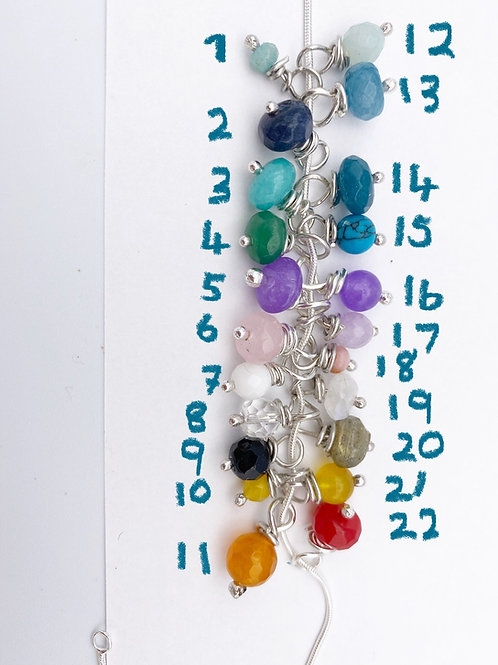 Gemstone bead to add to bangle/charm necklace