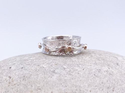Daisy Daisy spinning ring -size N