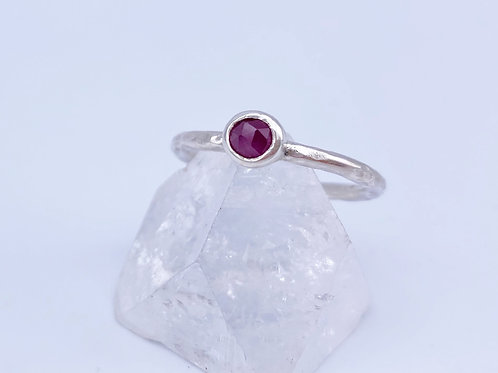 July birthstone stacking ring - Ruby