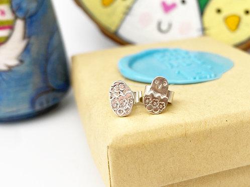 Easter egg and hatchling earrings