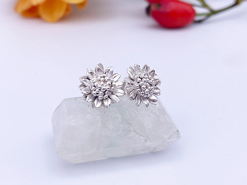 ready to ship - sunflower earrings, luxury studs