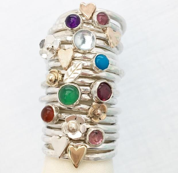 Stack of stacking rings