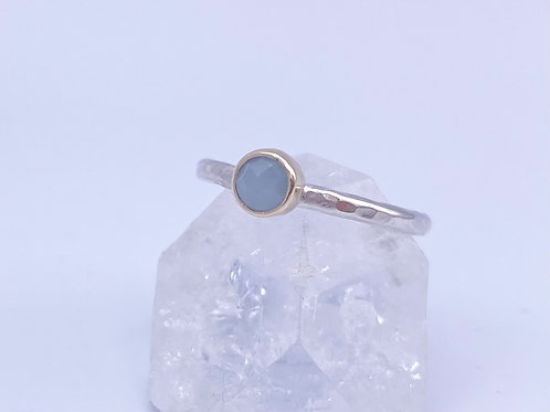 March birthstone stacking ring - Aquamarine