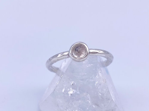 April birthstone stacking ring- crystal quartz option