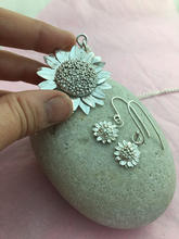 Bespoke sunflower Pendant and earring set