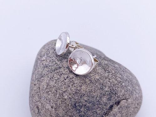 simple hammered disc earrings