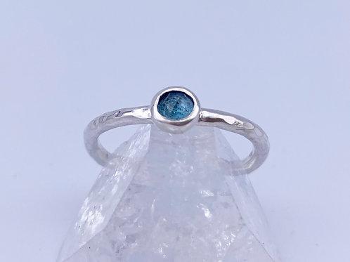 November birthstone stacking ring - London Blue Topaz