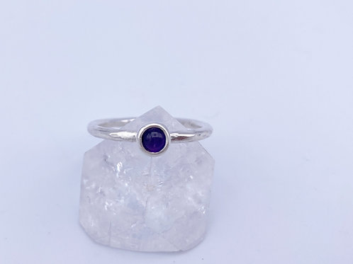 February birthstone Stacking ring - Amethyst