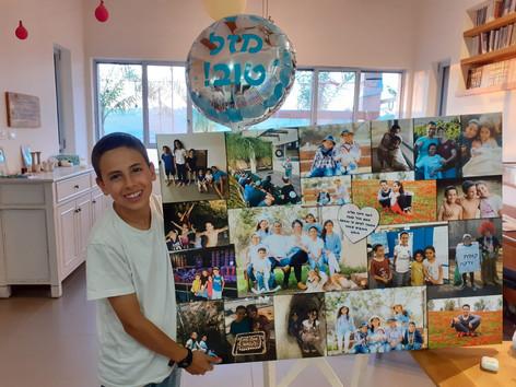 קולאז׳ ענק ליום הולדת על קנבס 100 על 70