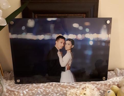 תמונת חתונה מזכוכית 60 על 40