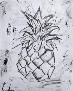 Blue Pineapple Sketch