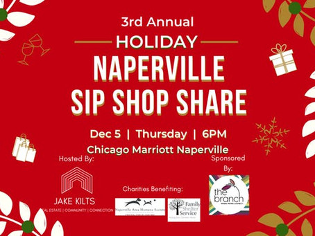 3rd Annual Naperville Sip Shop Share
