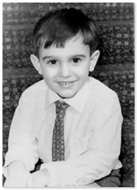 Jeff Lermer as a boy