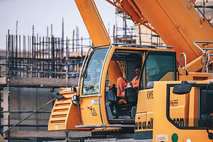 Building site digger machinery by Fancyc