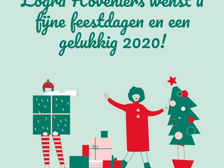 Wij wensen u fijne feestdagen en een gelukkig 2020!