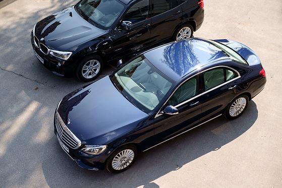 Luxus-Autos von oben