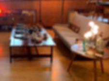 Mid-century sofa, mid-century coffee table, mid-century lighting, vintage and retro fair