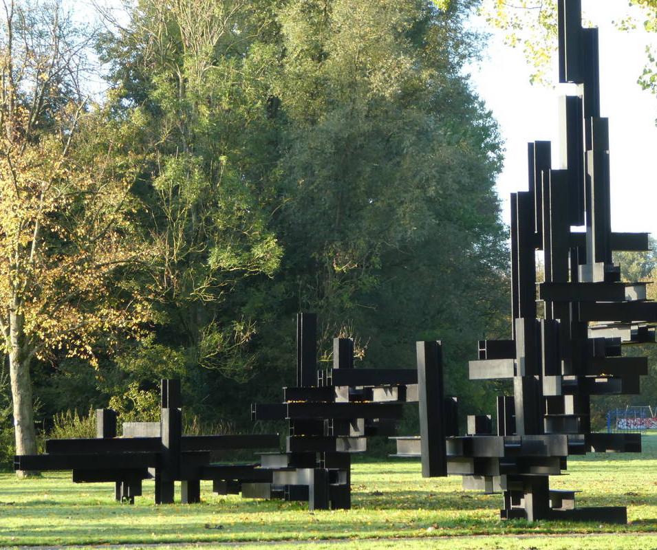 Constructie met I-balken door André Volten