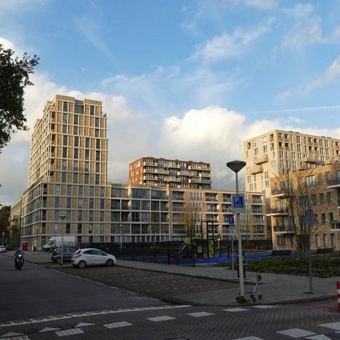 hoogbouw rond het Osdorpplein