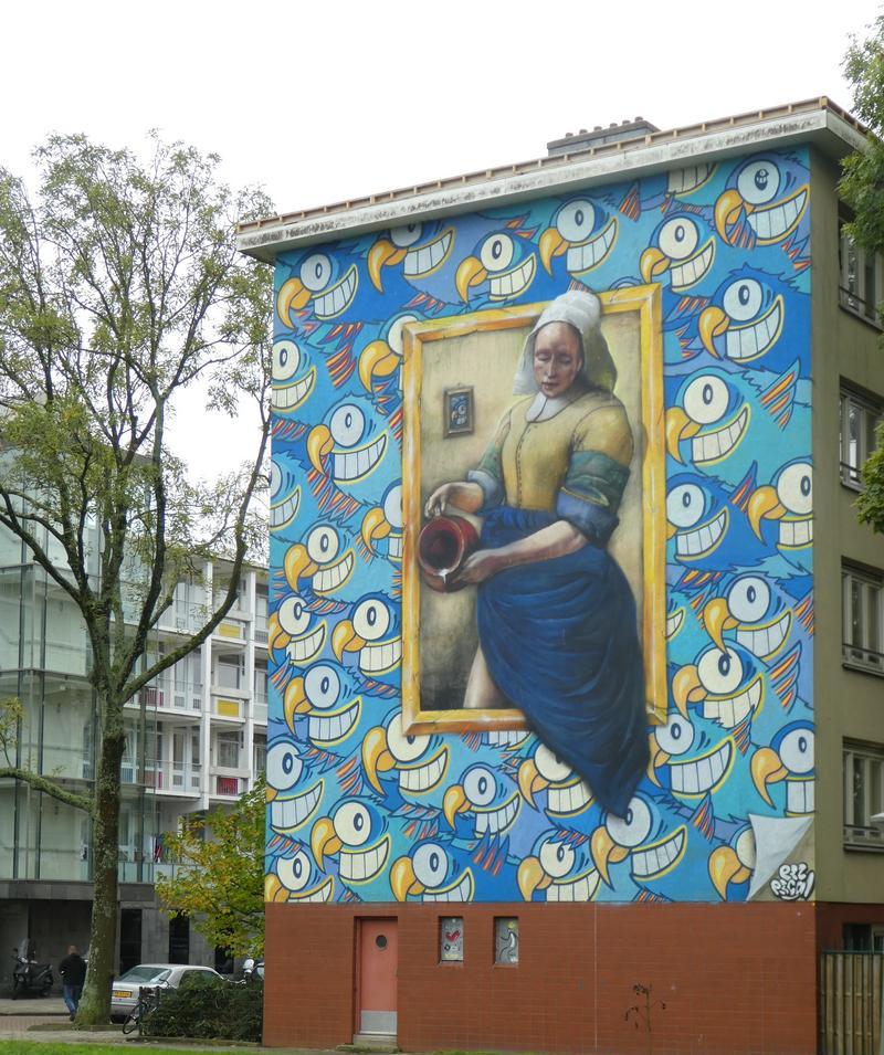 muurkunst Johannes Vermeer