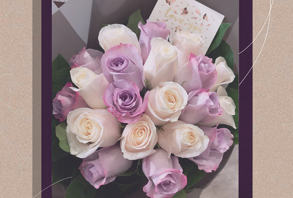 Vanilla Berry牛奶夢幻莓果美國玫瑰花束